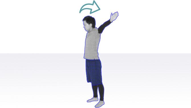 立位で腕の筋力と肩関節の可動性を高める高齢者向けの体操