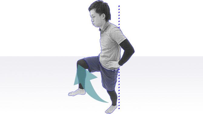 片足立ちトレーニング
