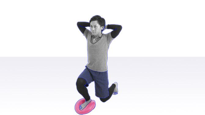 バランスディスクを使った運動