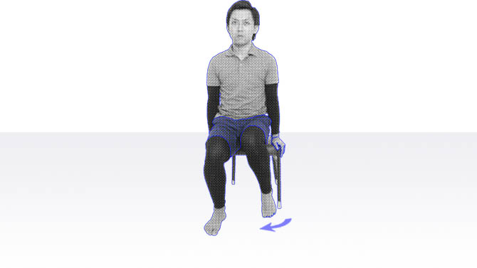 デイサービスで座位でできる体操|足首のストレッチ