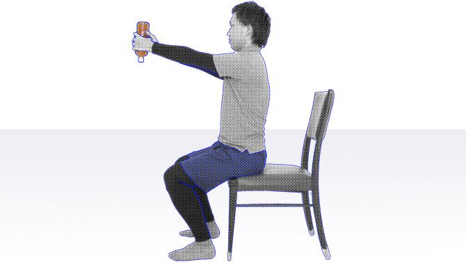 座ってできる個別機能訓練を行おう|肩のエクササイズ