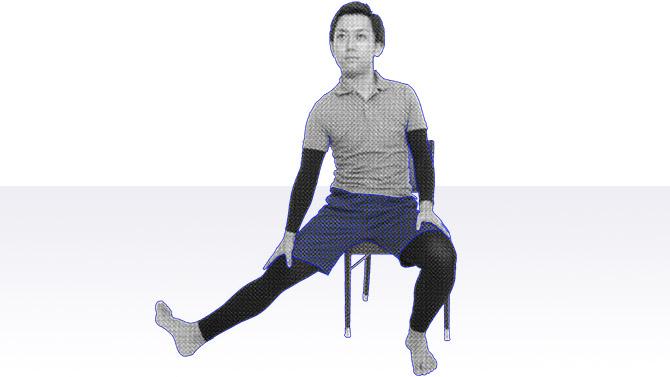 「ハムストリングス」や内ももに付着する「内転筋」の柔軟性を高める効果が期待できる体操
