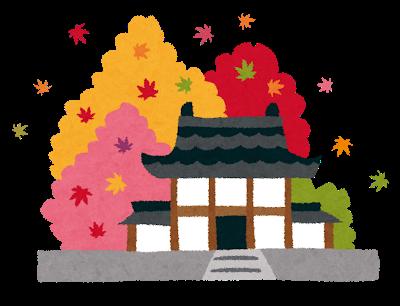 11月の季節の行事 紅葉レクのイラスト