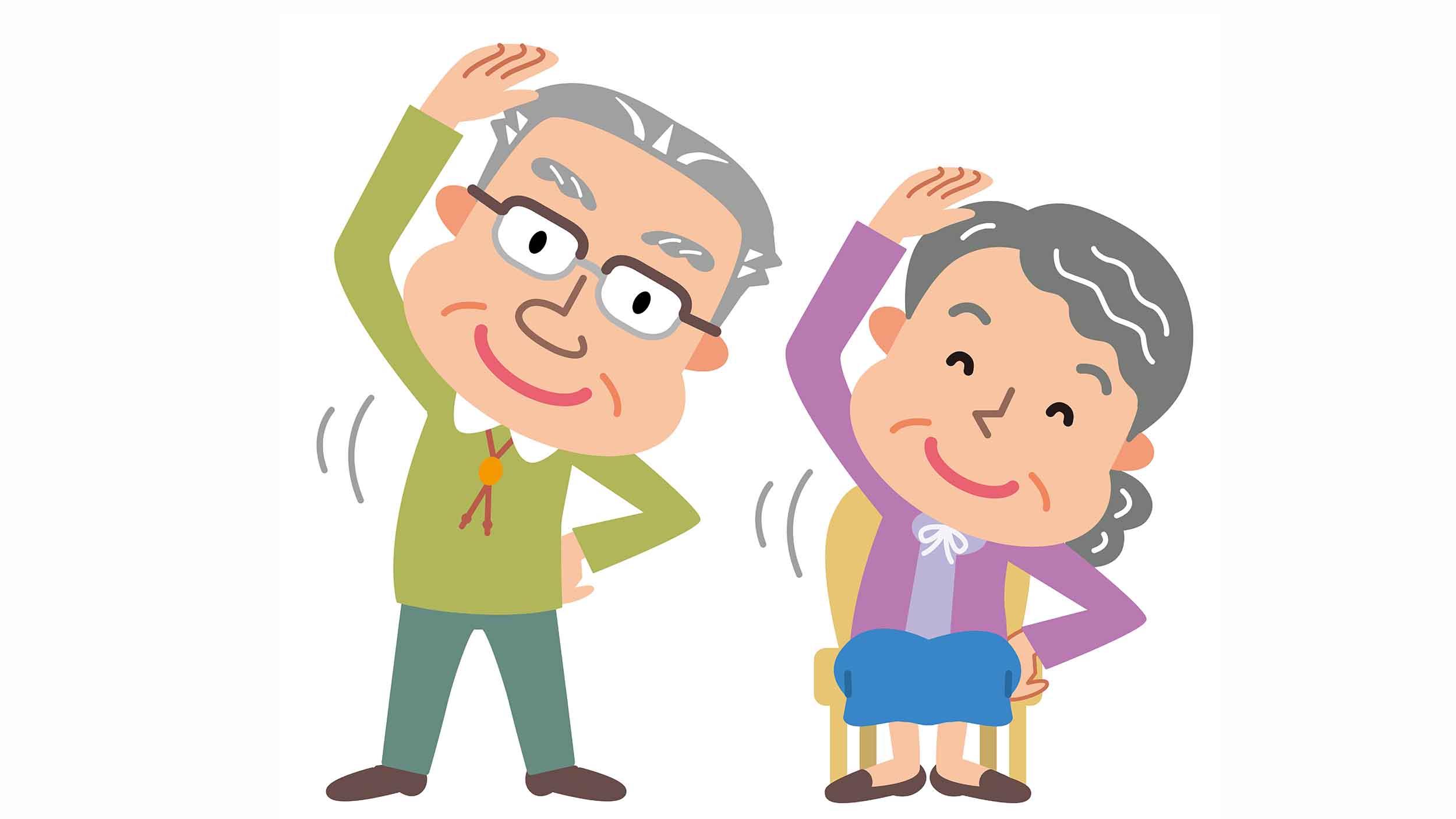 高齢者の機能訓練イメージ